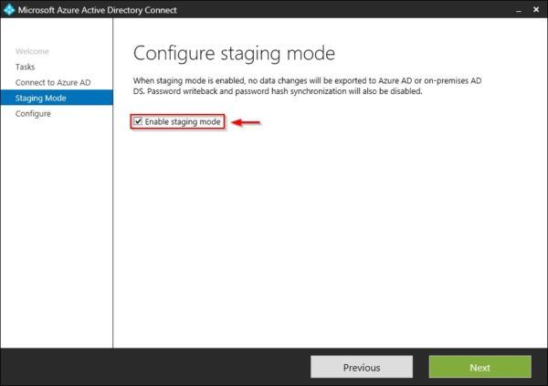 Enable staging mode