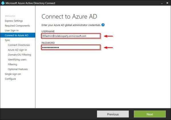 Office 365 Administrator credentials