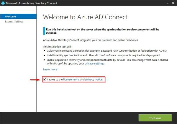 Install Azure AD Connect