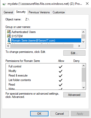 Set NTFS permissions