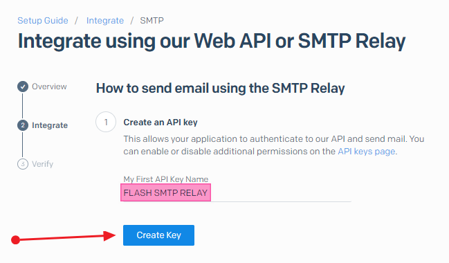 Give your API key a meaningful name