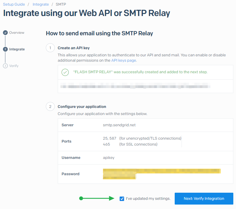 Integrate using our web API or SMTP Relay