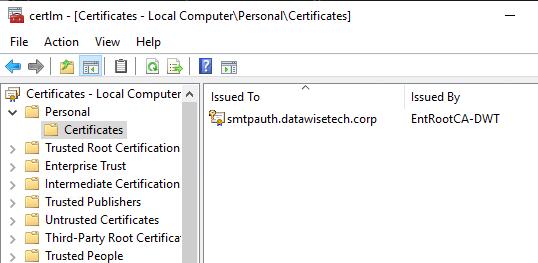 Local Machine certificate store