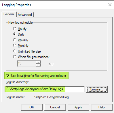 Configure your logging preference