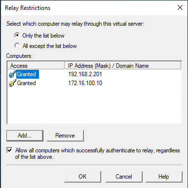 Relay Restrictions