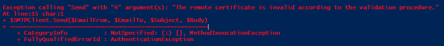 The remote certificate is invalid - img