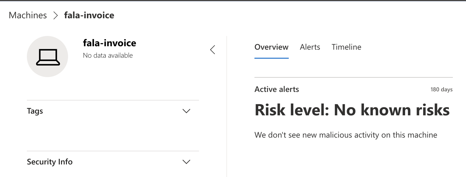 Microsoft Defender / risk level