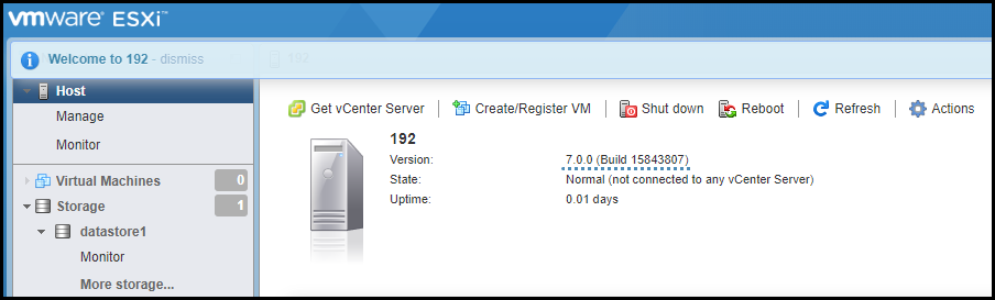 Our host is upgraded to ESXi 7.0