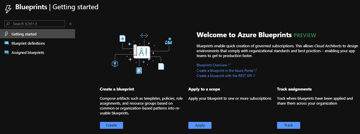 Azure Blueprint service