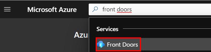 Create a Front Door