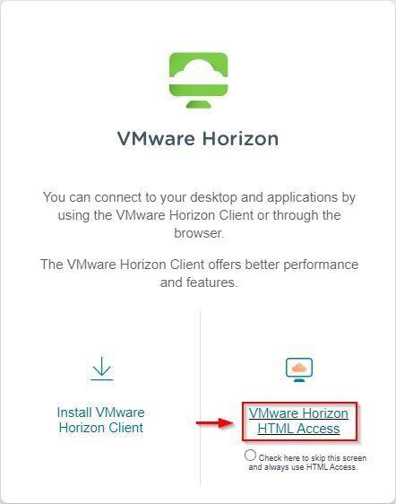 VMware Horizon HTML Access
