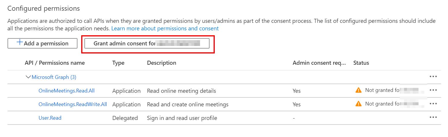 Grant admin consent