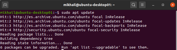 Updating APT package index