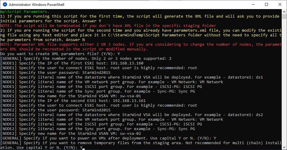 VMs autostart can be set after the deployment