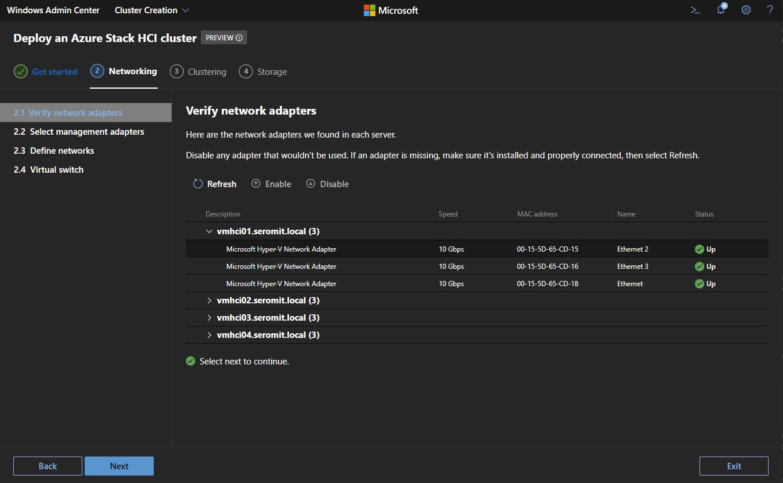 Pane of network configuration