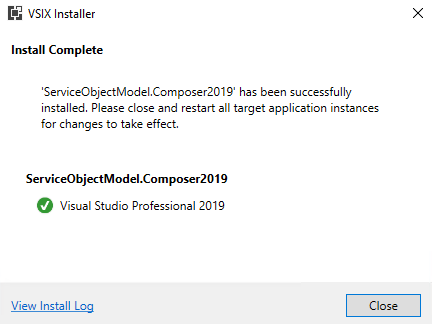 VSIX Installer – Install Complete