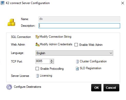 K2 Connect Server Configuration
