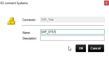 K2 Connect Destination Explorer – Adding System