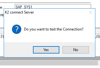 Test configured connection