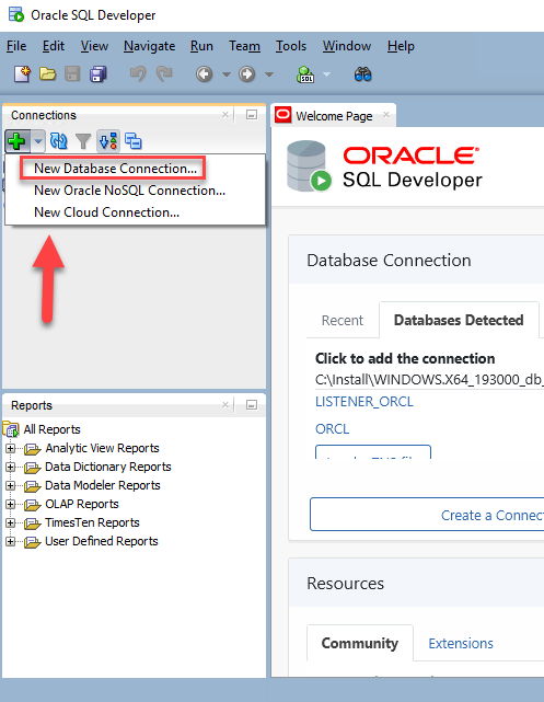 Oracle SQL Developer – Adding New Database Connection
