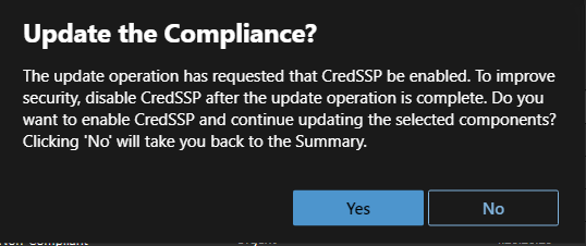 Update the Compliance
