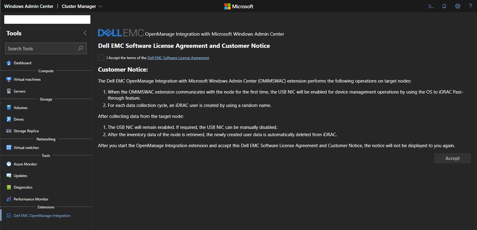 Dell EMC OpenManage integration