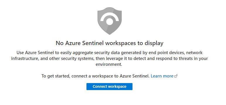 Azure Sentinel blade