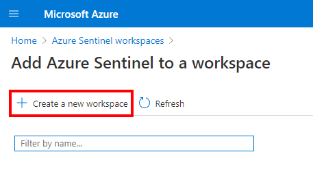 Azure Sentinel workspace