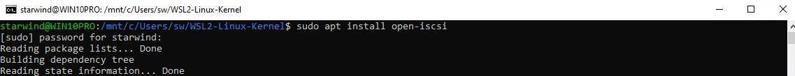 Install open-iscsi