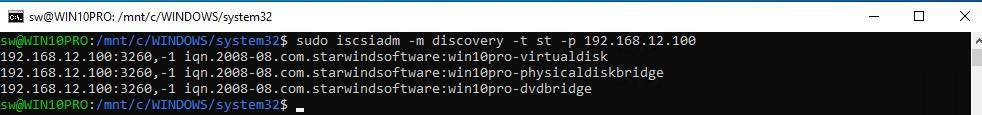 Discovery iscsi targets
