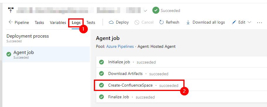 Agent job / Check the status