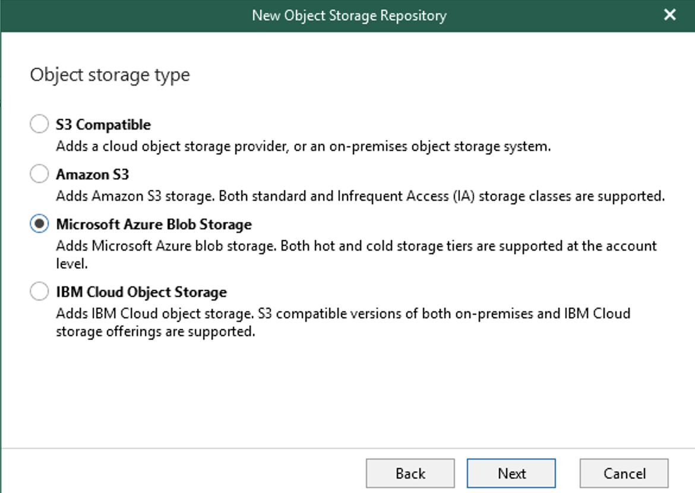 Object storage type