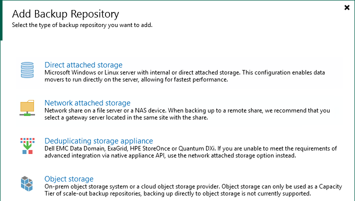 Select Direct Attached Storage