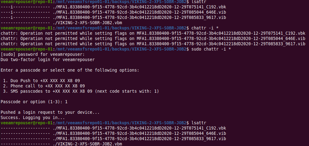 Removing the immutability attribute. Did you see me missing sudo first?