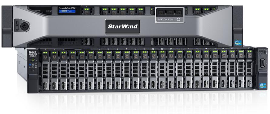 Figure 4: Dedicated & optimized Starwind backup appliance
