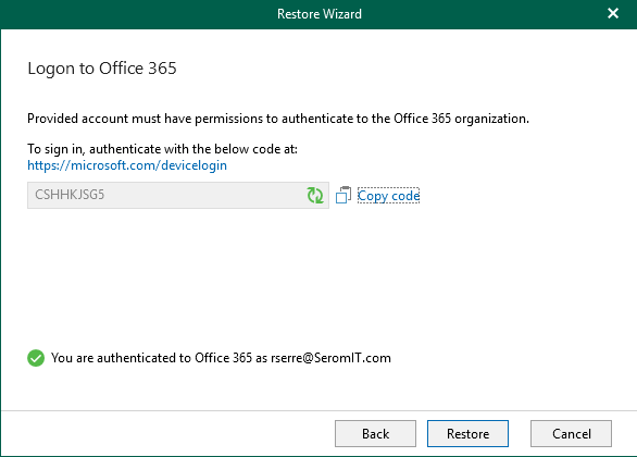 Logon to Office 365