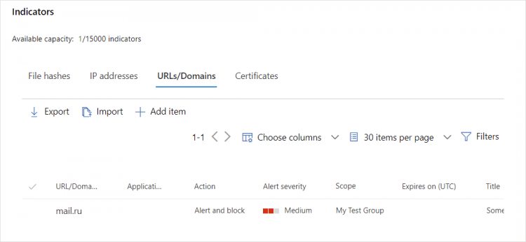 Microsoft 365 Security - How to block a custom URL - URLs/Domains