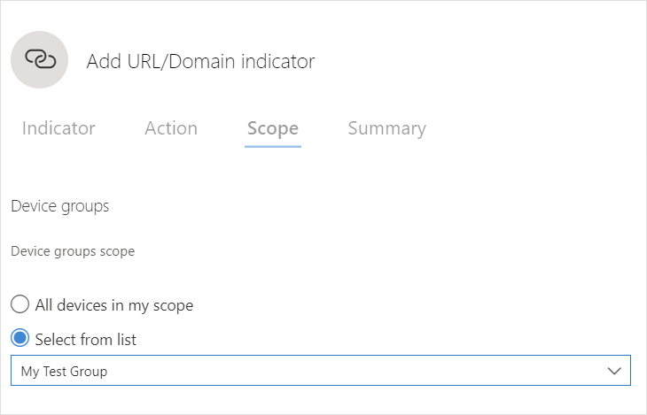 Microsoft 365 Security - How to block a custom URL - Choose The Device