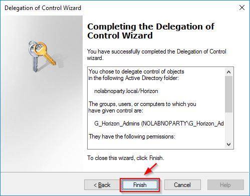 Save the configuration and exit the wizard