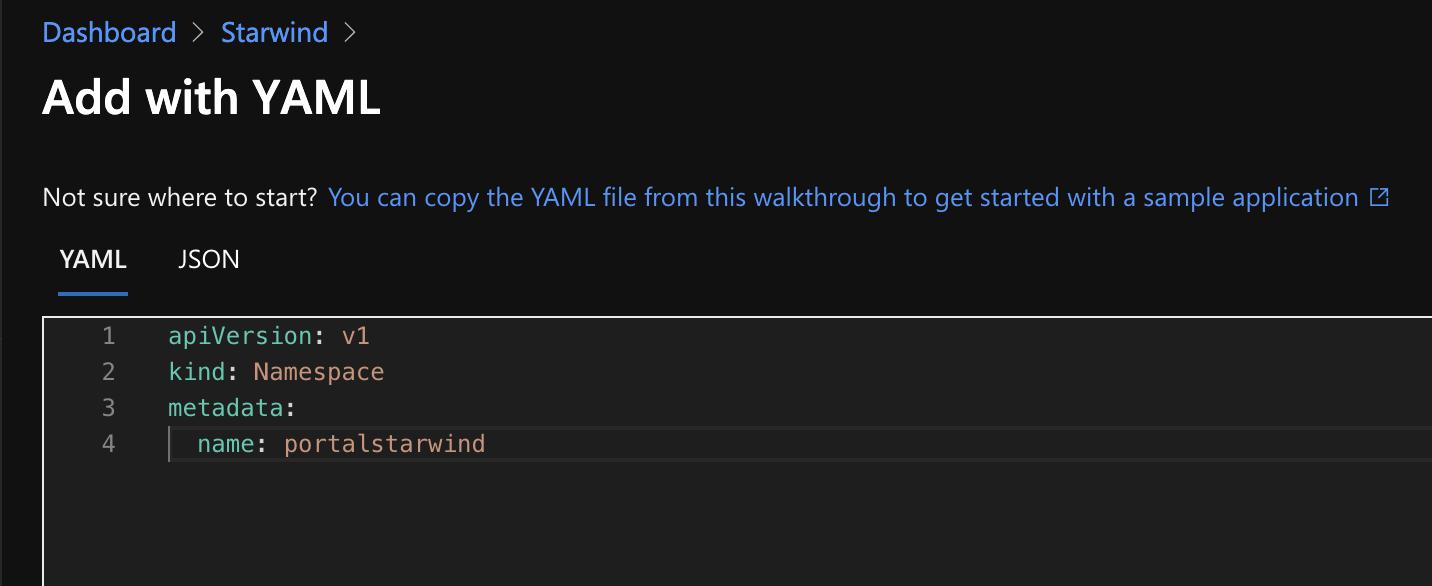 Add with YAML