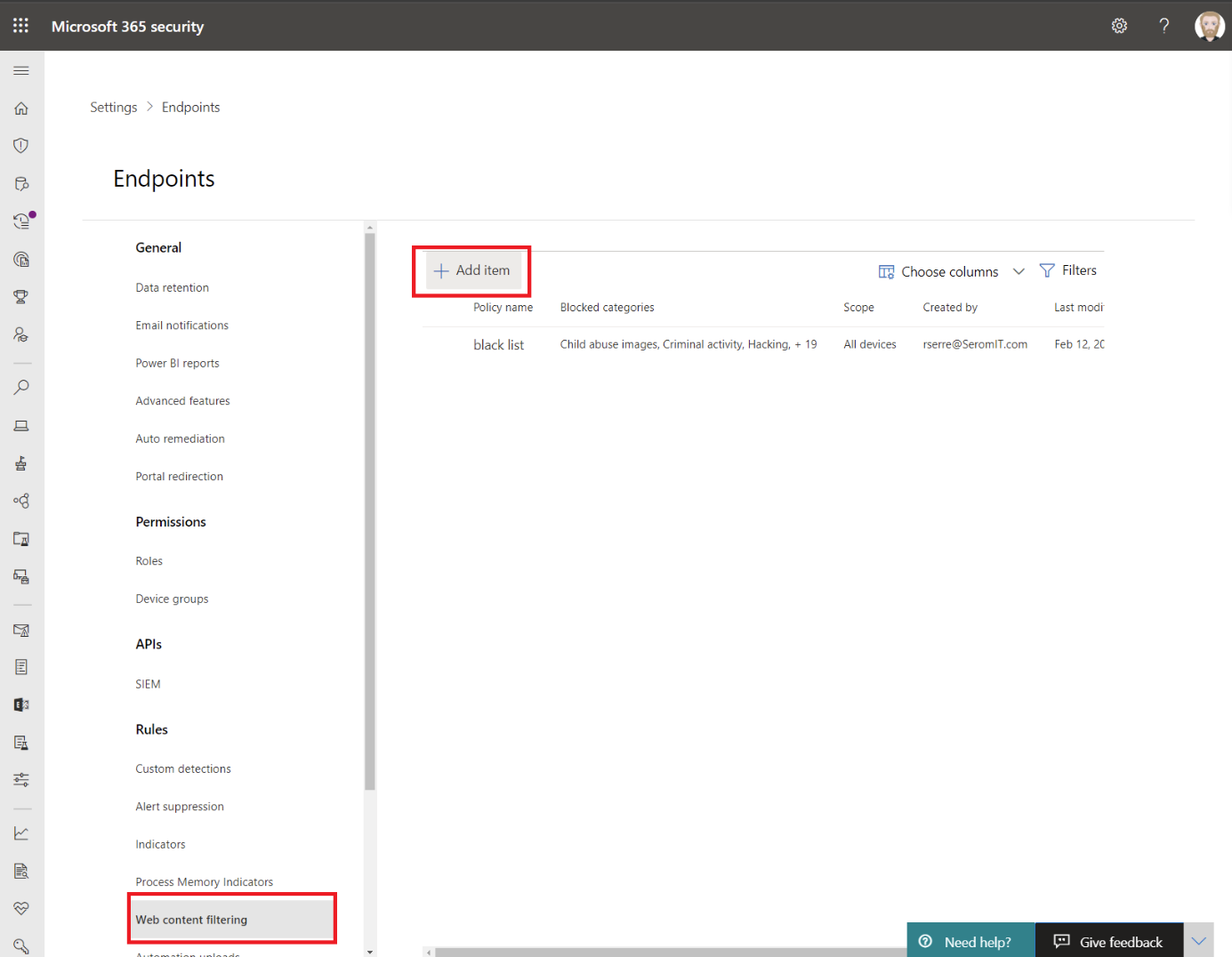 Microsoft 365 Security - Web Content Filtering