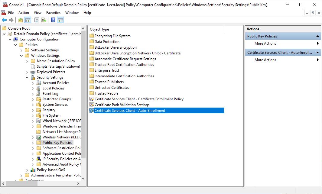 Certificate Services Client - Auto-Enrollment