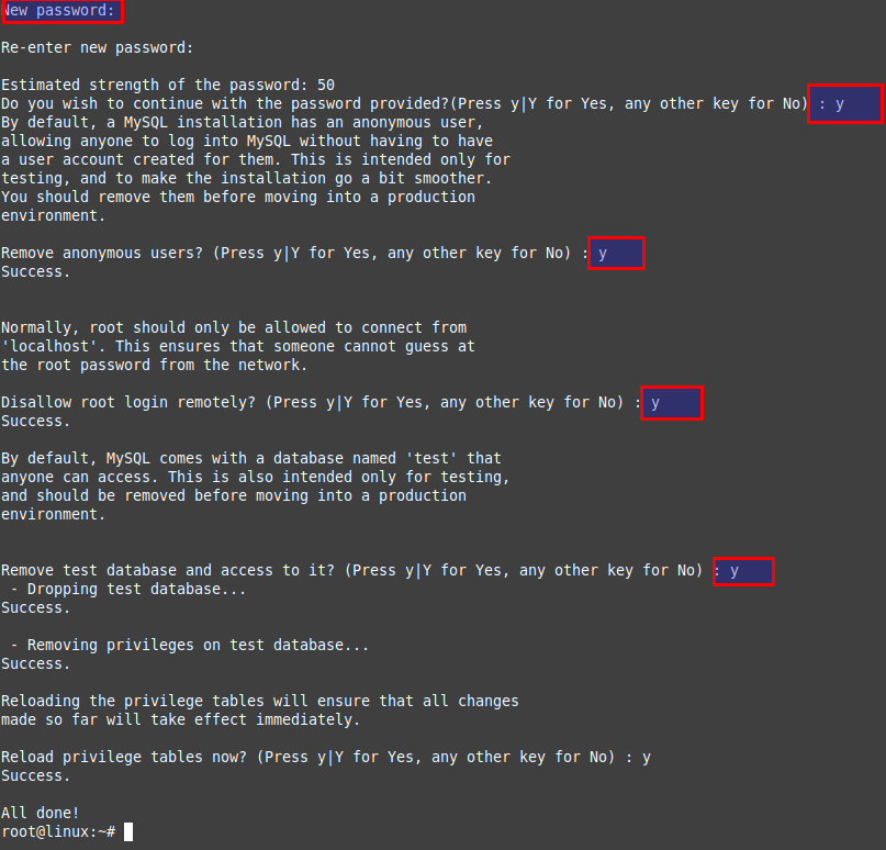 Configure Database for Nextcloud