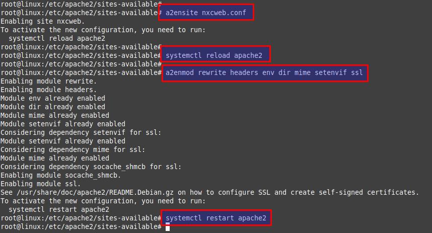 Reboot webserver service