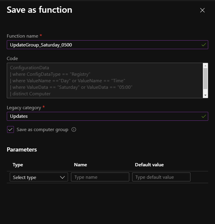 Save as computer group