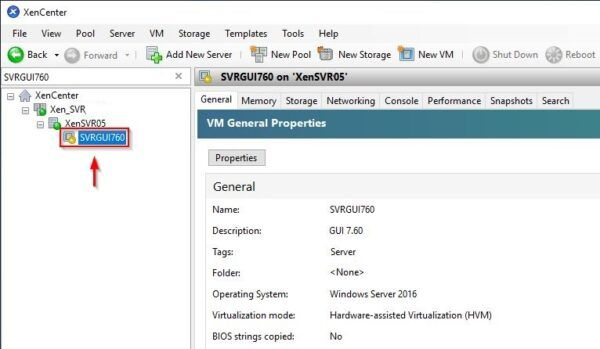 The VM is being powered off