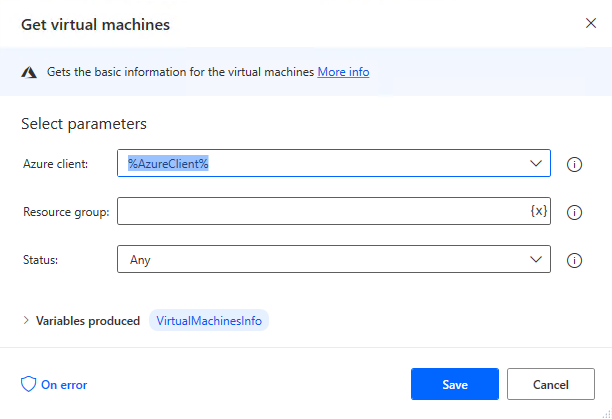 Get virtual machines