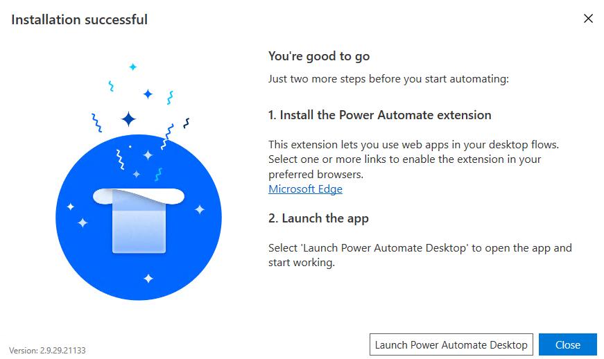 Launch the Power Automate Desktop app