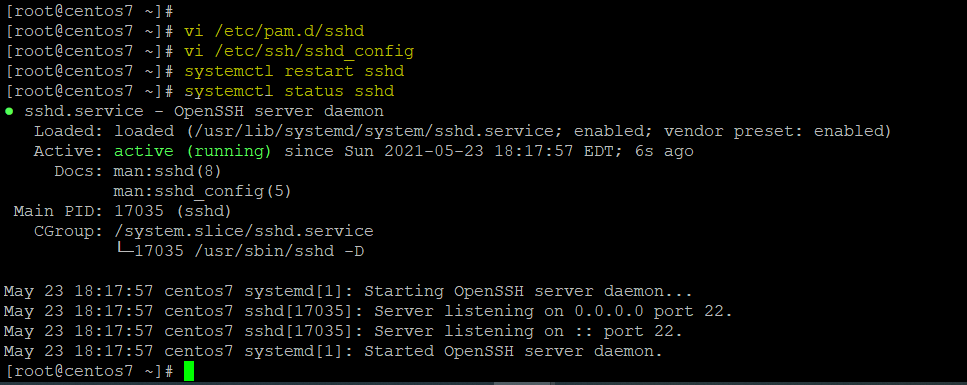 Configure SSH for OTP Display