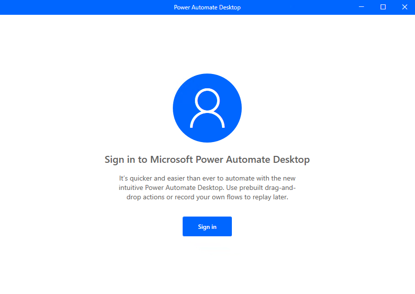 Sign in with a Microsoft account